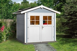 weka gartenhaus 224 schwedenrot 21mm 205x209 cm mygardenhome. Black Bedroom Furniture Sets. Home Design Ideas