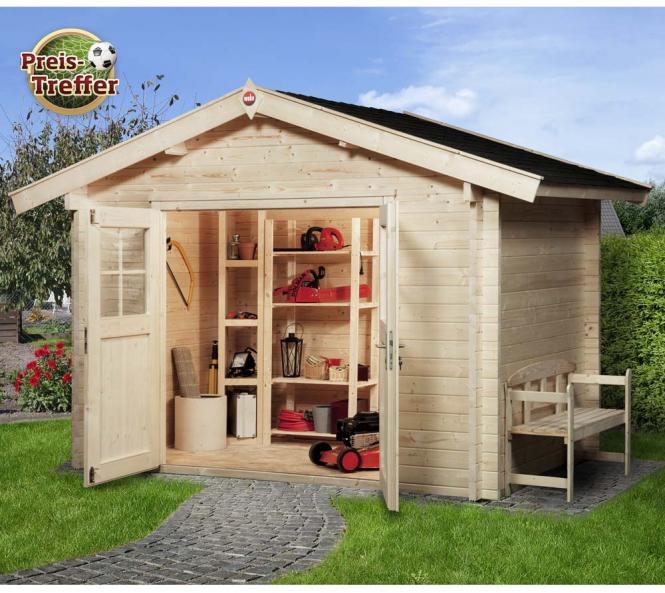 weka gartenhaus 132 premium natur 45mm 300x280 cm mygardenhome. Black Bedroom Furniture Sets. Home Design Ideas