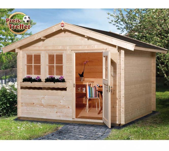 weka gartenhaus 139 premium natur 45mm 380x280 cm mygardenhome. Black Bedroom Furniture Sets. Home Design Ideas