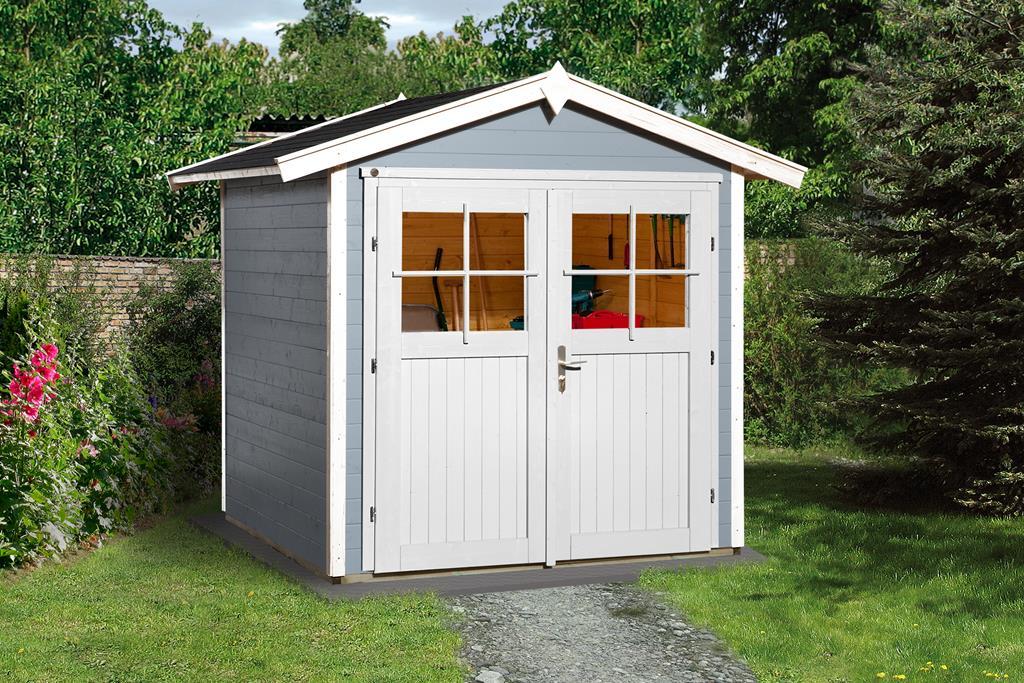 weka gartenhaus 224 grau 21mm 205x209 cm mygardenhome. Black Bedroom Furniture Sets. Home Design Ideas