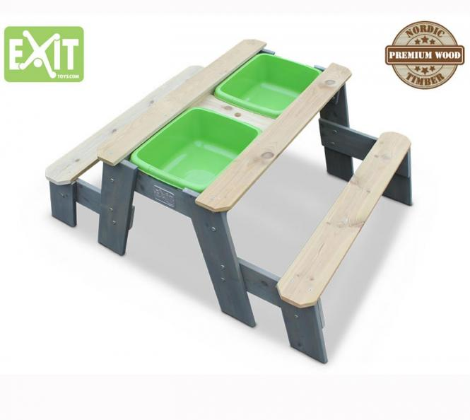 EXIT Aksent Sand, Wasser & Picknicktisch inkl 2 Bänken und Wannen