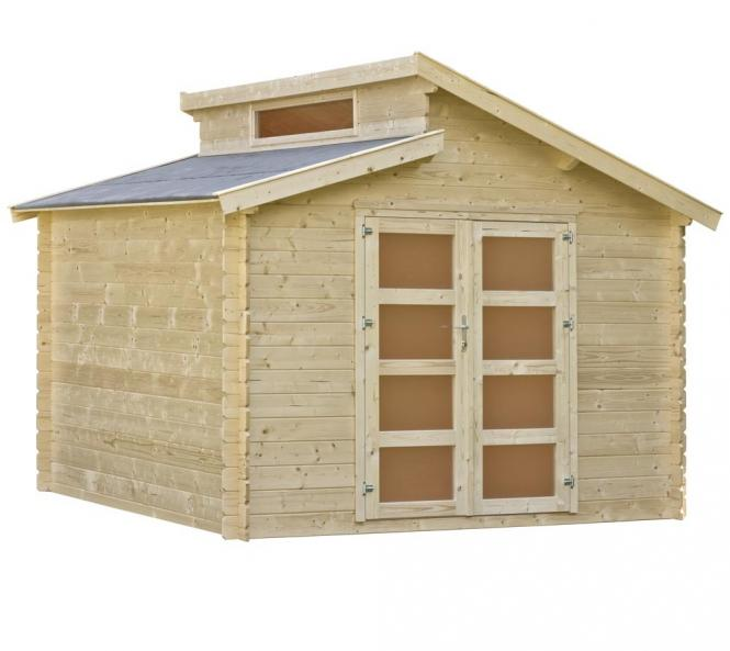 outdoor life gartenhaus benno 4 34mm 376x380 cm. Black Bedroom Furniture Sets. Home Design Ideas