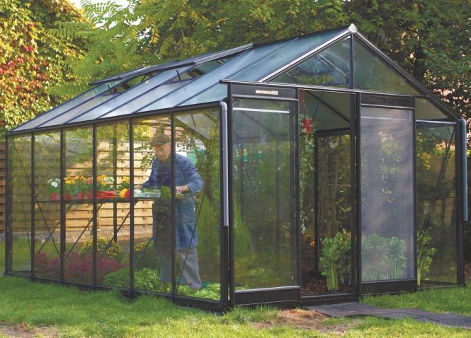 acd aluminium glas gew chshaus r306h schwarz 13 61m mygardenhome. Black Bedroom Furniture Sets. Home Design Ideas