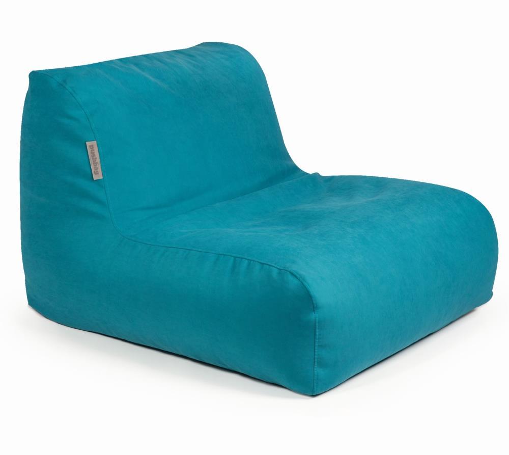 pushbag sitzsack sitzkissen liege chair soft petrol blau. Black Bedroom Furniture Sets. Home Design Ideas