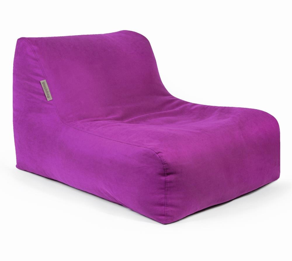 pushbag sitzsack sitzkissen liege chair soft purple. Black Bedroom Furniture Sets. Home Design Ideas
