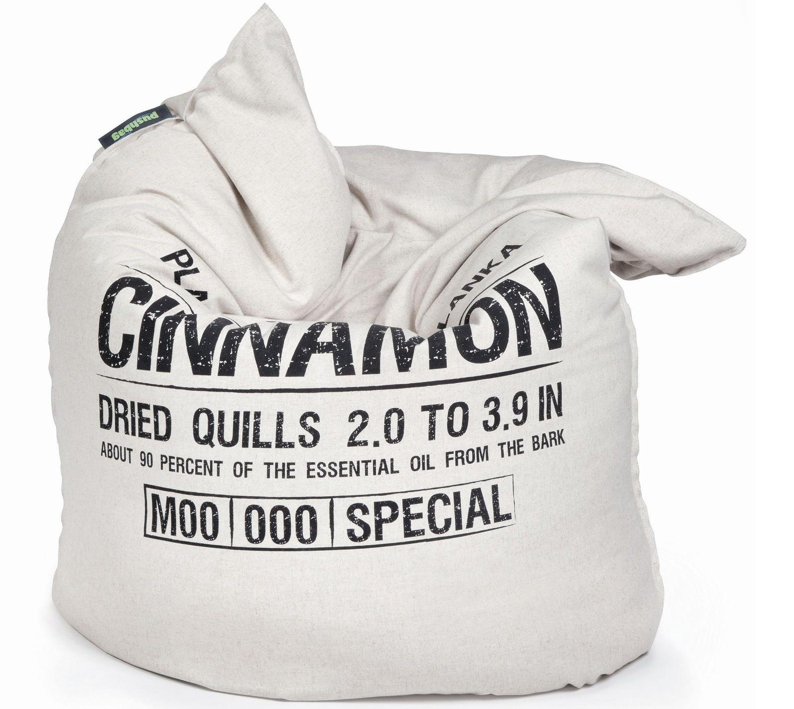 pushbag sitzsack sitzkissen sitzm bel classic canvas cinnamon bag mygardenhome. Black Bedroom Furniture Sets. Home Design Ideas