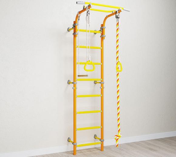 wallbarz kletterger st und sprossenwand orange gelb f r kinder mygardenhome. Black Bedroom Furniture Sets. Home Design Ideas