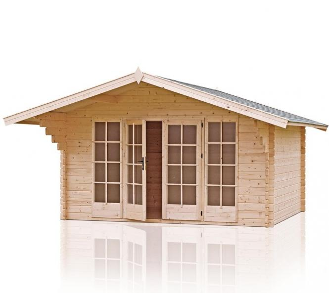 outdoor life gartenhaus eva 380 40mm 460x540 cm. Black Bedroom Furniture Sets. Home Design Ideas