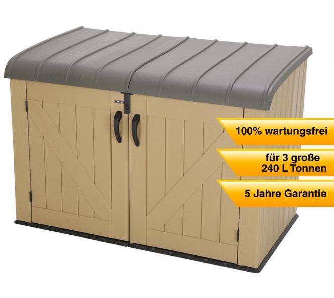 lifetime xxl kunststoff m lltonnenbox ger tebox aufbewahrungsbox braun mygardenhome. Black Bedroom Furniture Sets. Home Design Ideas