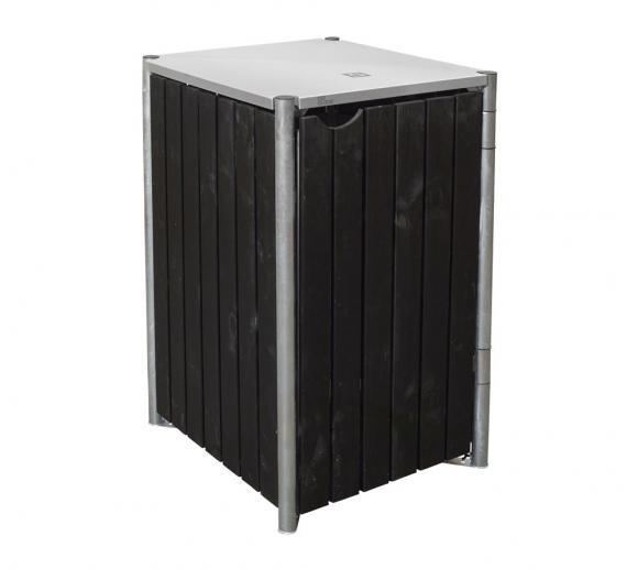 hide m lltonnenbox m lltonnenverkleidung natur schwarz f r 1 m lltonne 240 l volumen. Black Bedroom Furniture Sets. Home Design Ideas