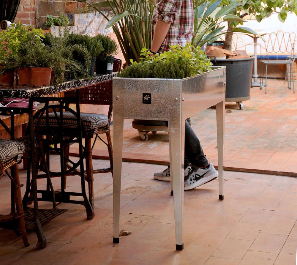 Herstera Garden Hochbeet Fiorere 75x35x70 Cm Silber Inkl Spezieller