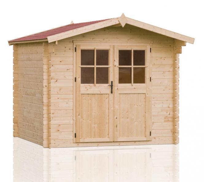 outdoor life gartenhaus iris 245 28mm 279x306 cm. Black Bedroom Furniture Sets. Home Design Ideas