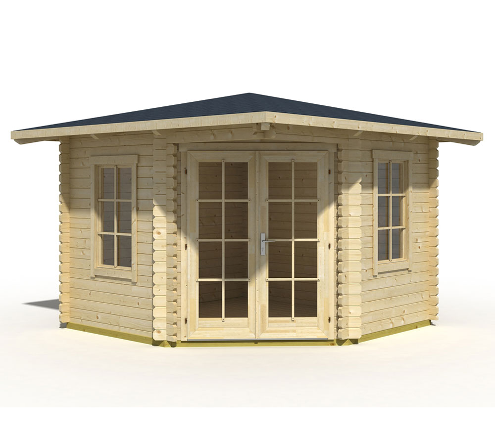 Lasita Maja Gartenhaus Aruba 1 Holzhaus 3x3m 40mm Natur
