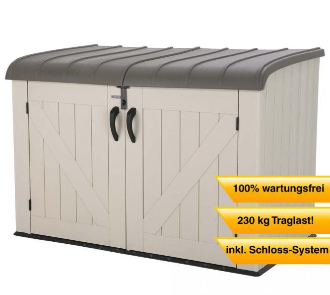 Polyrattan Gartenmobel De Vries : Lifetime XXL Kunststoff Mülltonnenbox, Gerätebox, Aufbewahrungsbox