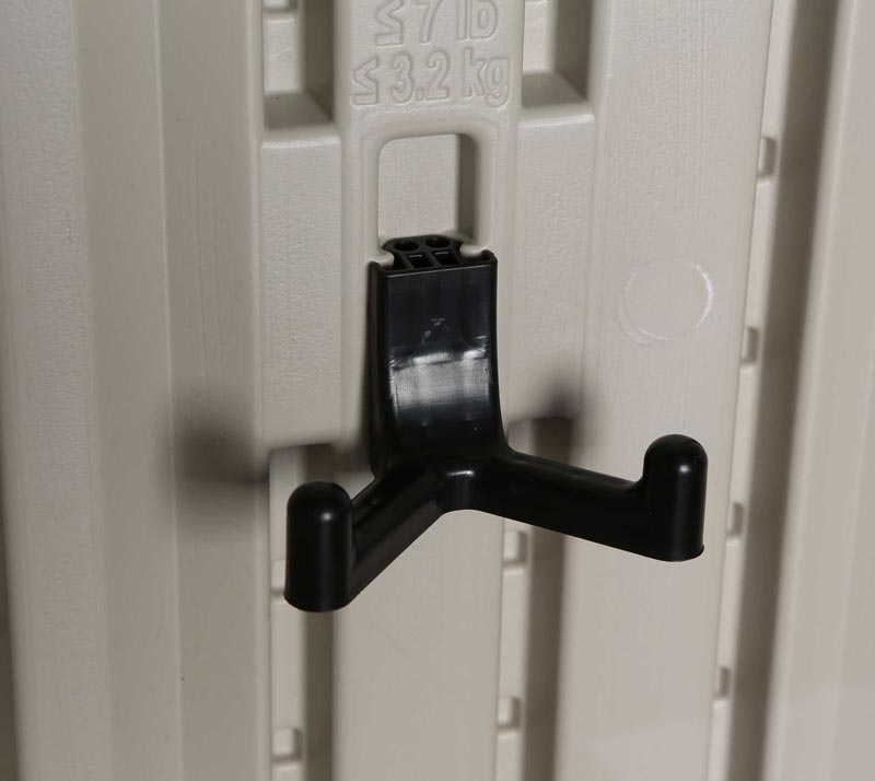 lifetime wandhaken 6 stk f r ger tehaus aus kunststoff mygardenhome. Black Bedroom Furniture Sets. Home Design Ideas