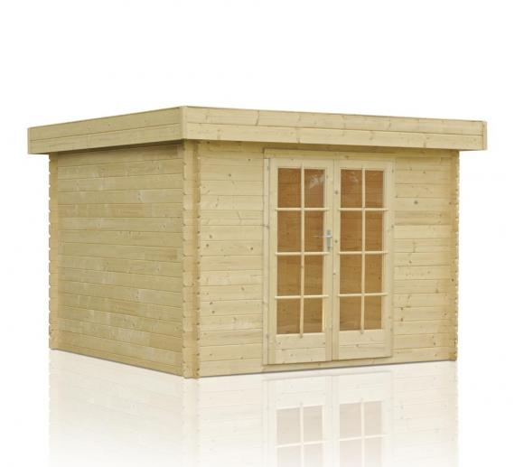outdoor life gartenhaus odille 200 28mm 344x244 cm. Black Bedroom Furniture Sets. Home Design Ideas