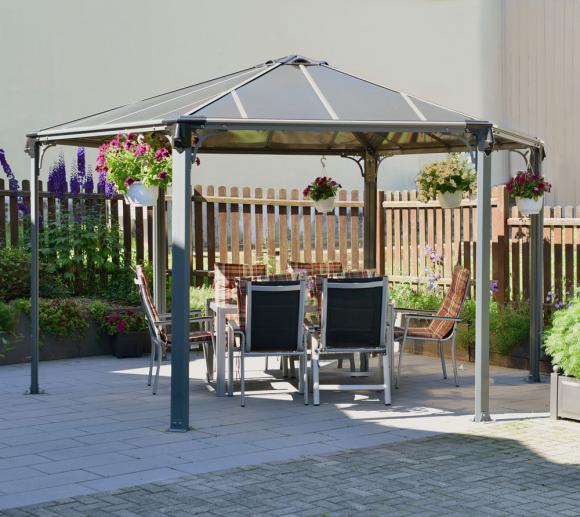 palram aluminium gazebo pavillon monaco 450x390 cm mygardenhome. Black Bedroom Furniture Sets. Home Design Ideas