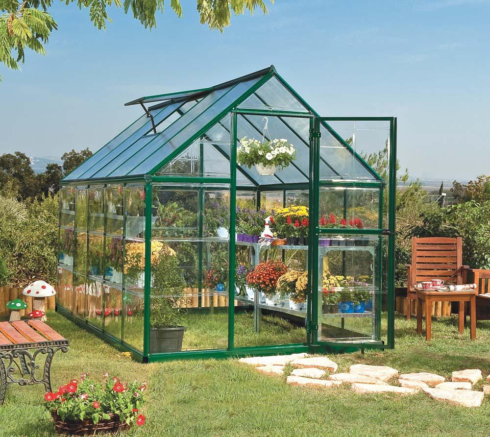 palram aluminium gew chshaus tomatenhaus set hybrid 6x10 gr n 185x310 cm. Black Bedroom Furniture Sets. Home Design Ideas