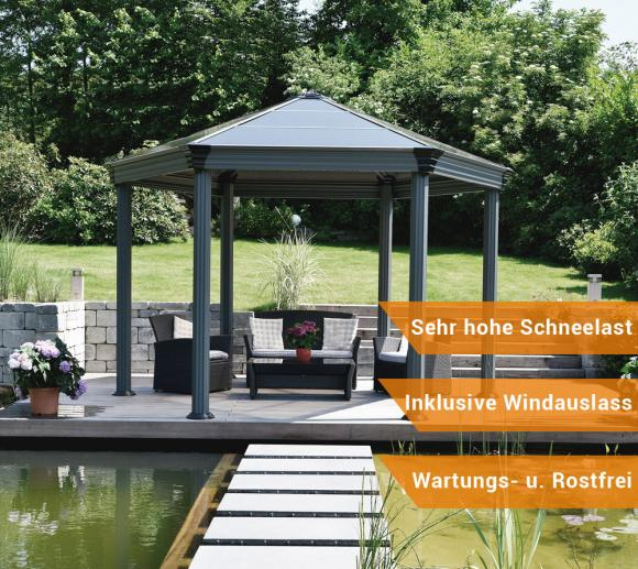 aluminium pavillon sonstige preisvergleiche. Black Bedroom Furniture Sets. Home Design Ideas