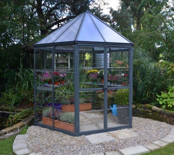 palram aluminium pavillon set oasis anthrazit 248 cm mygardenhome. Black Bedroom Furniture Sets. Home Design Ideas