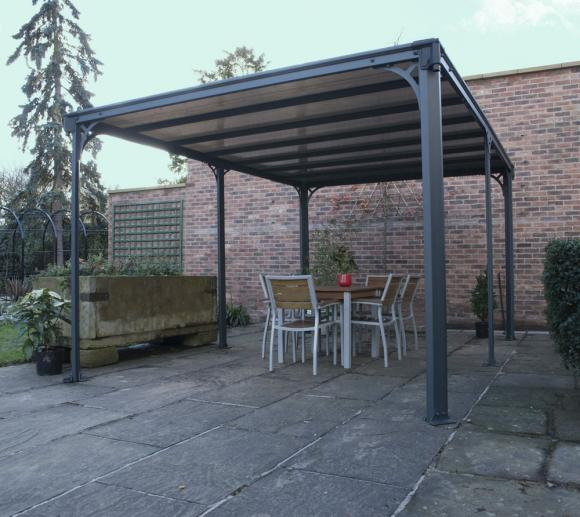 palram aluminium gazebo pavillon milano 4300 436x316 cm. Black Bedroom Furniture Sets. Home Design Ideas