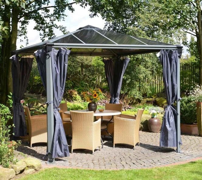 palram aluminium gazebo pavillon palermo vorh nge seitenteile mygardenhome. Black Bedroom Furniture Sets. Home Design Ideas