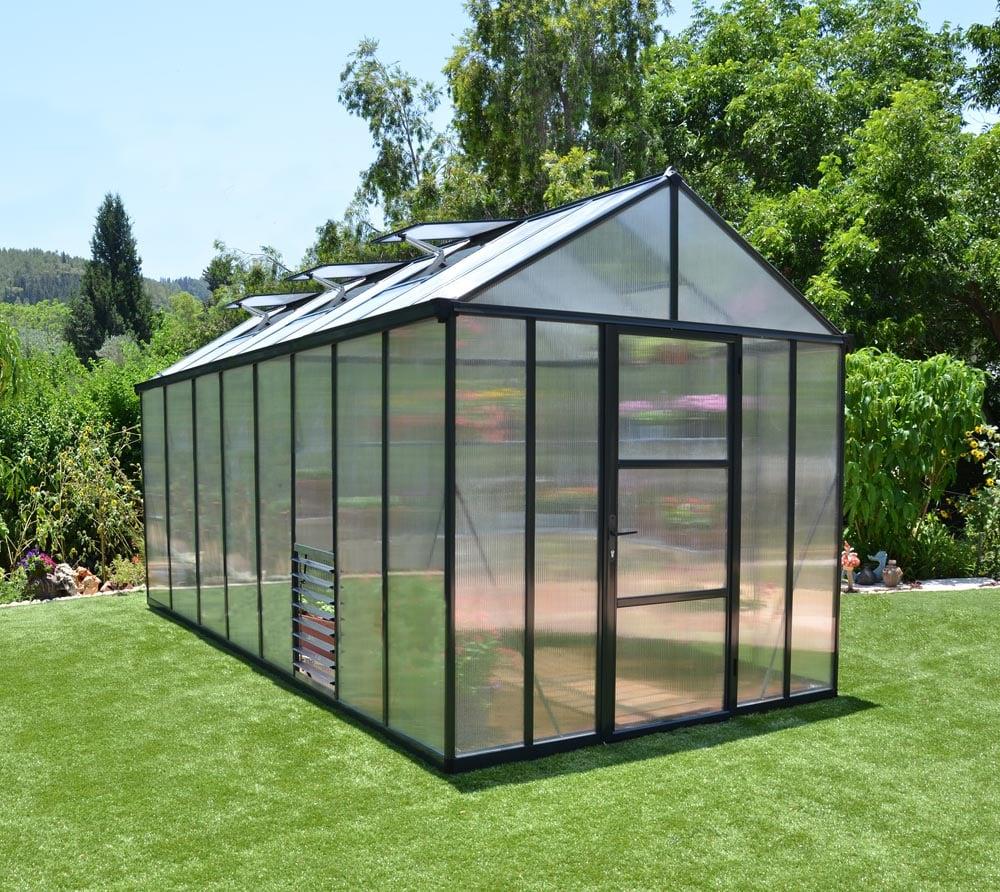 premium aluminium gew chshaus treibhaus glory 48 inkl fundament regenrinnen ebay. Black Bedroom Furniture Sets. Home Design Ideas