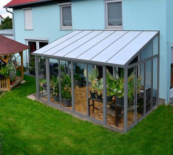 palram terrassen berdachung wintergarten veranda sanremo 300x430 grau mygardenhome. Black Bedroom Furniture Sets. Home Design Ideas