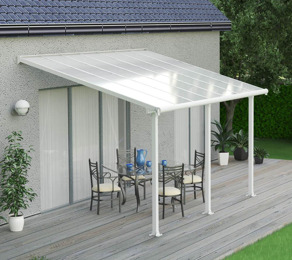 palram terrassen berdachung olympia 300x425 cm weiss 16mm. Black Bedroom Furniture Sets. Home Design Ideas