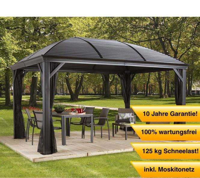 pavillon aluminium 4x4 amazon de luxus pavillon gartenpavillon alu partyzelt grasekamp. Black Bedroom Furniture Sets. Home Design Ideas