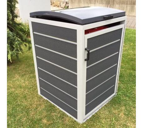 prewood wpc m lltonnenbox m lltonnenverkleidung 240l grau 86x76 cm mygardenhome. Black Bedroom Furniture Sets. Home Design Ideas