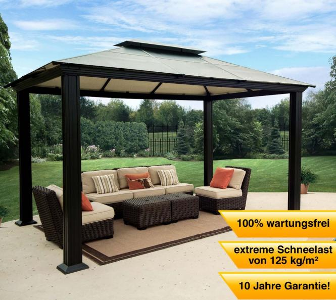clemens aluminium pavillon gazebo santa monica 300x400 cm mygardenhome. Black Bedroom Furniture Sets. Home Design Ideas