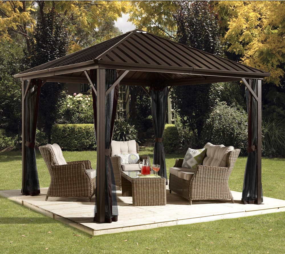 sojag aluminium pavillon gazebo dakota 8x8 inkl. Black Bedroom Furniture Sets. Home Design Ideas