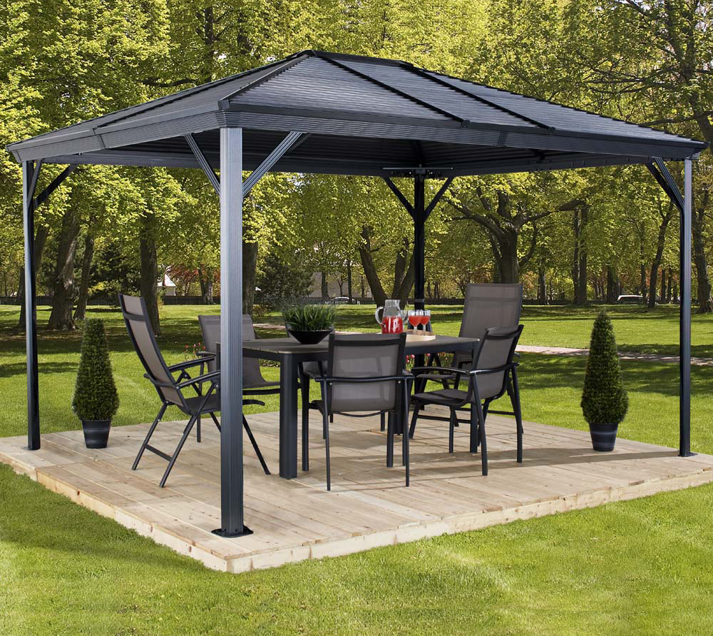 sojag aluminium pavillon gazebo ventura 10x10 296x296 cm. Black Bedroom Furniture Sets. Home Design Ideas