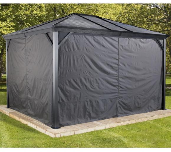 sojag pavillon ventura 10x10 vorh nge seitenteile. Black Bedroom Furniture Sets. Home Design Ideas