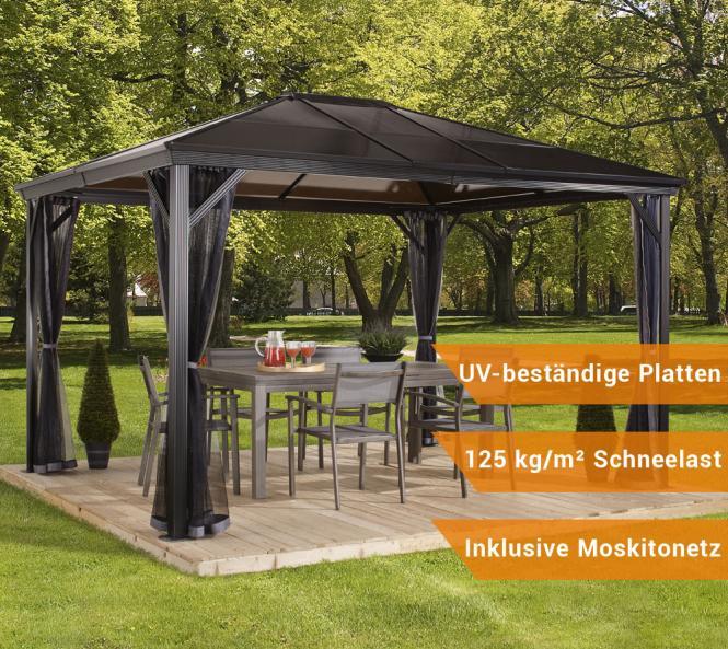 sojag aluminium pavillon gazebo verona 10x10 inkl. Black Bedroom Furniture Sets. Home Design Ideas