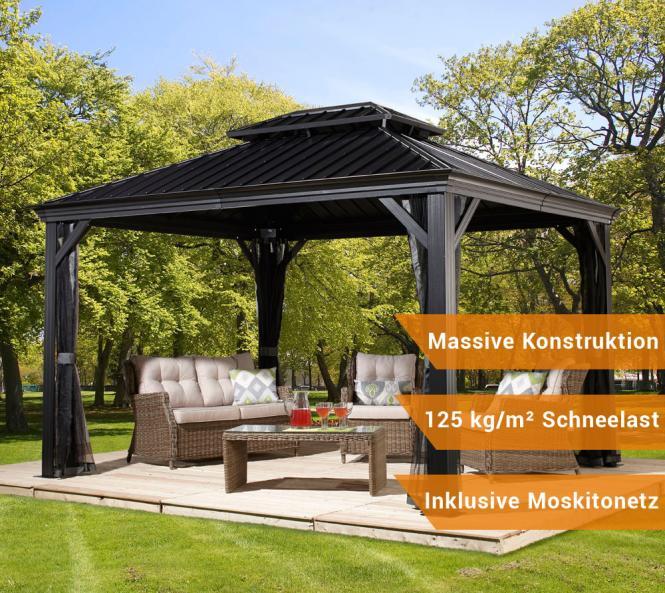 sojag aluminium pavillon gazebo messina 10x12 inkl. Black Bedroom Furniture Sets. Home Design Ideas