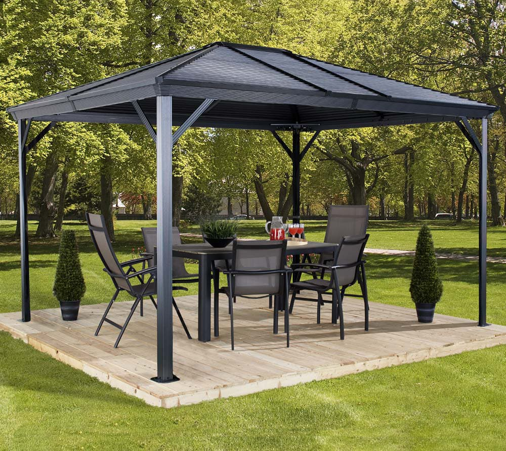 sojag aluminium pavillon gazebo ventura 10x14 296x423 cm mygardenhome. Black Bedroom Furniture Sets. Home Design Ideas