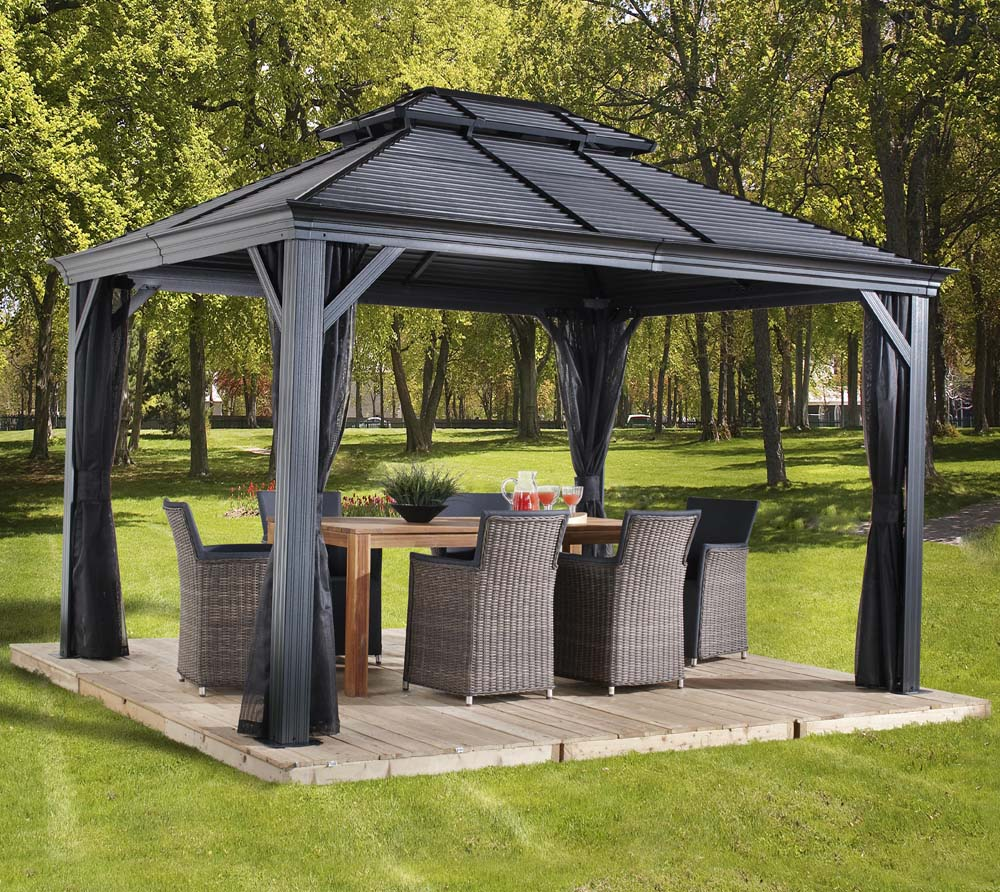 sojag aluminium pavillon gazebo mykonos 10x14 inkl. Black Bedroom Furniture Sets. Home Design Ideas