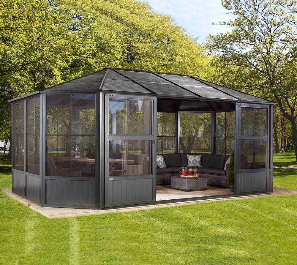sojag aluminium pavillon wintergarten charleston 12x18. Black Bedroom Furniture Sets. Home Design Ideas
