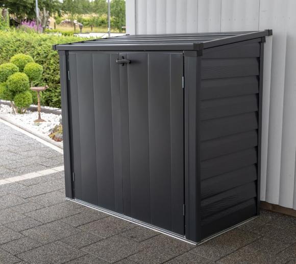 spacemaker mülltonnenbox, gerätebox anthrazit, 144x75 cm | mygardenhome