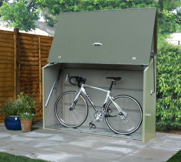 trimetals fahrradbox, gerätebox, aufbewahrungsbox sesame grün