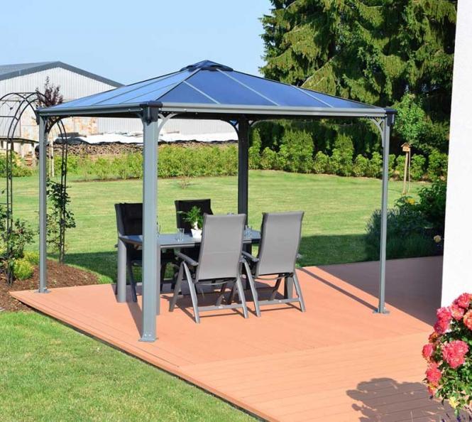 palram aluminium gazebo pavillon palermo 3000 295x295 cm. Black Bedroom Furniture Sets. Home Design Ideas