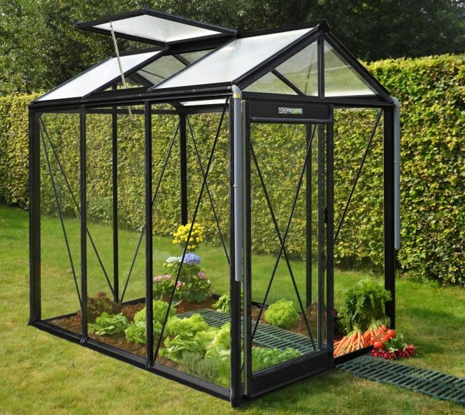 acd aluminium glas gew chshaus piccolo schwarz 3 56m mygardenhome. Black Bedroom Furniture Sets. Home Design Ideas
