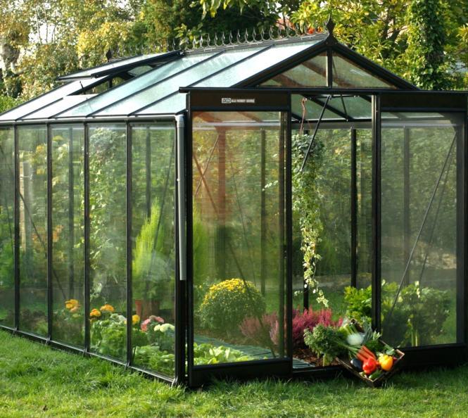 acd aluminium glas gew chshaus r205h schwarz 8 6m mygardenhome. Black Bedroom Furniture Sets. Home Design Ideas