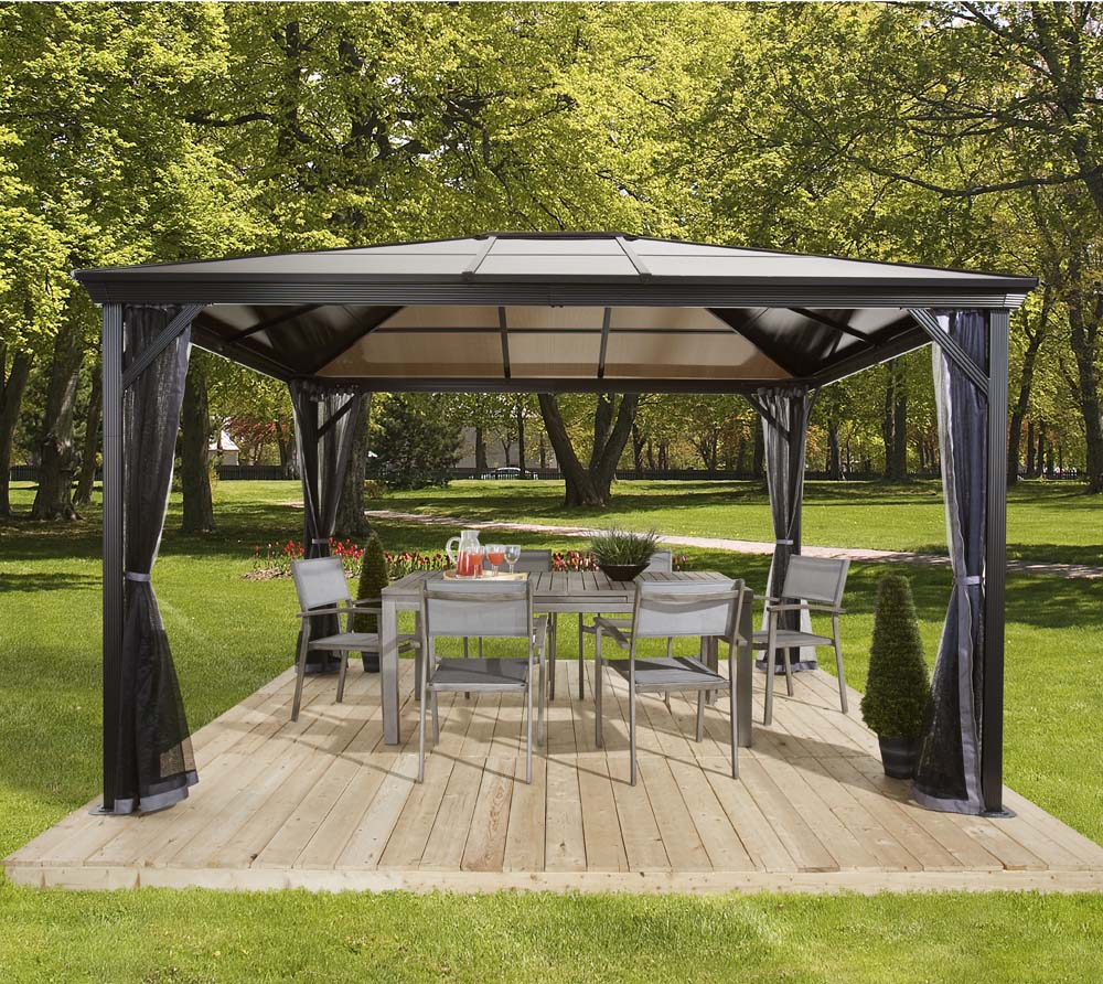 neu ovp sojag aluminium gazebo pavillon berdachung verona 10x10 298x298 cm ebay. Black Bedroom Furniture Sets. Home Design Ideas