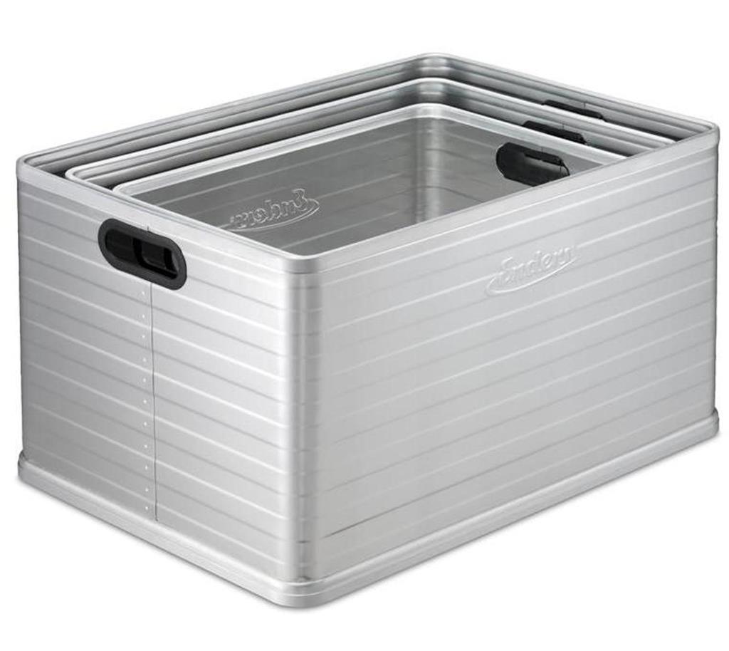 Polyrattan Gartenmobel De Vries : Enders Aluminium Stapelbox Ottawa S (30 l)  mygardenhome